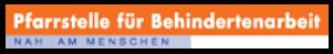 Logo der Pfarrstelle für Behindertenarbeit. Nah am Menschen.