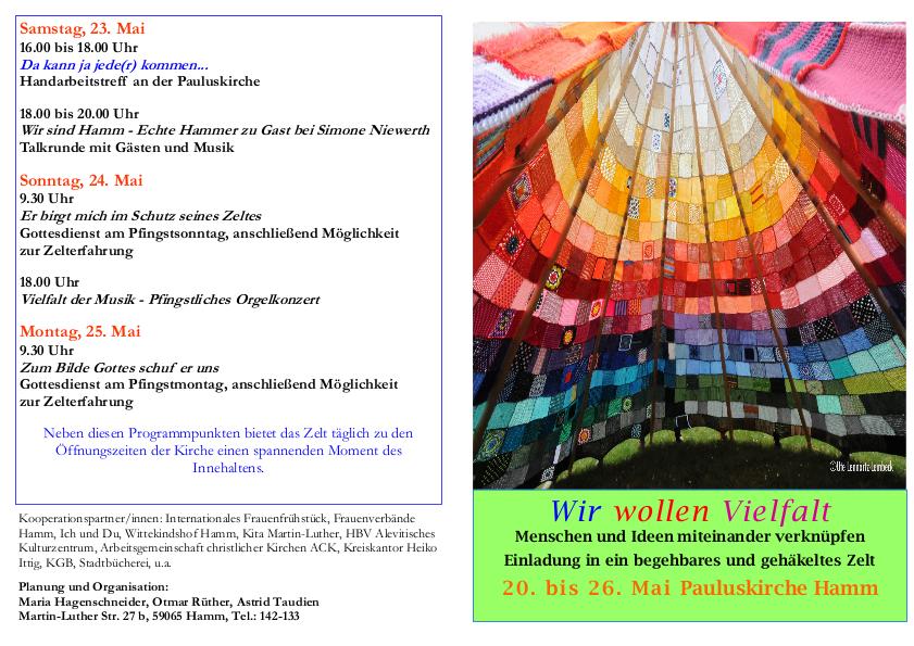 Einladung zu Pfingsten in Hamm.