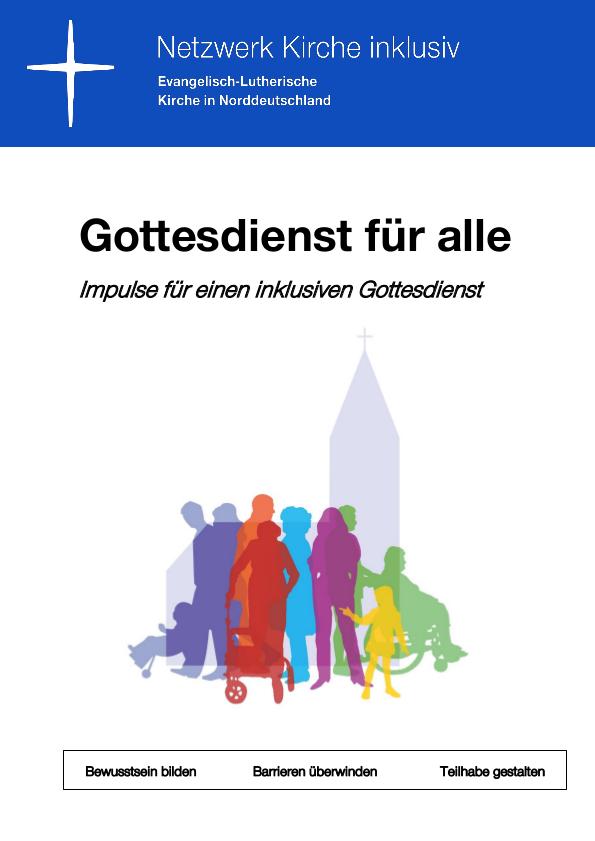 """Titelseite der Broschüre """"Gottesdienst für alle"""""""